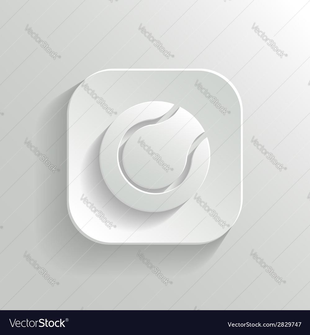 Tennis icon - white app button vector | Price: 1 Credit (USD $1)