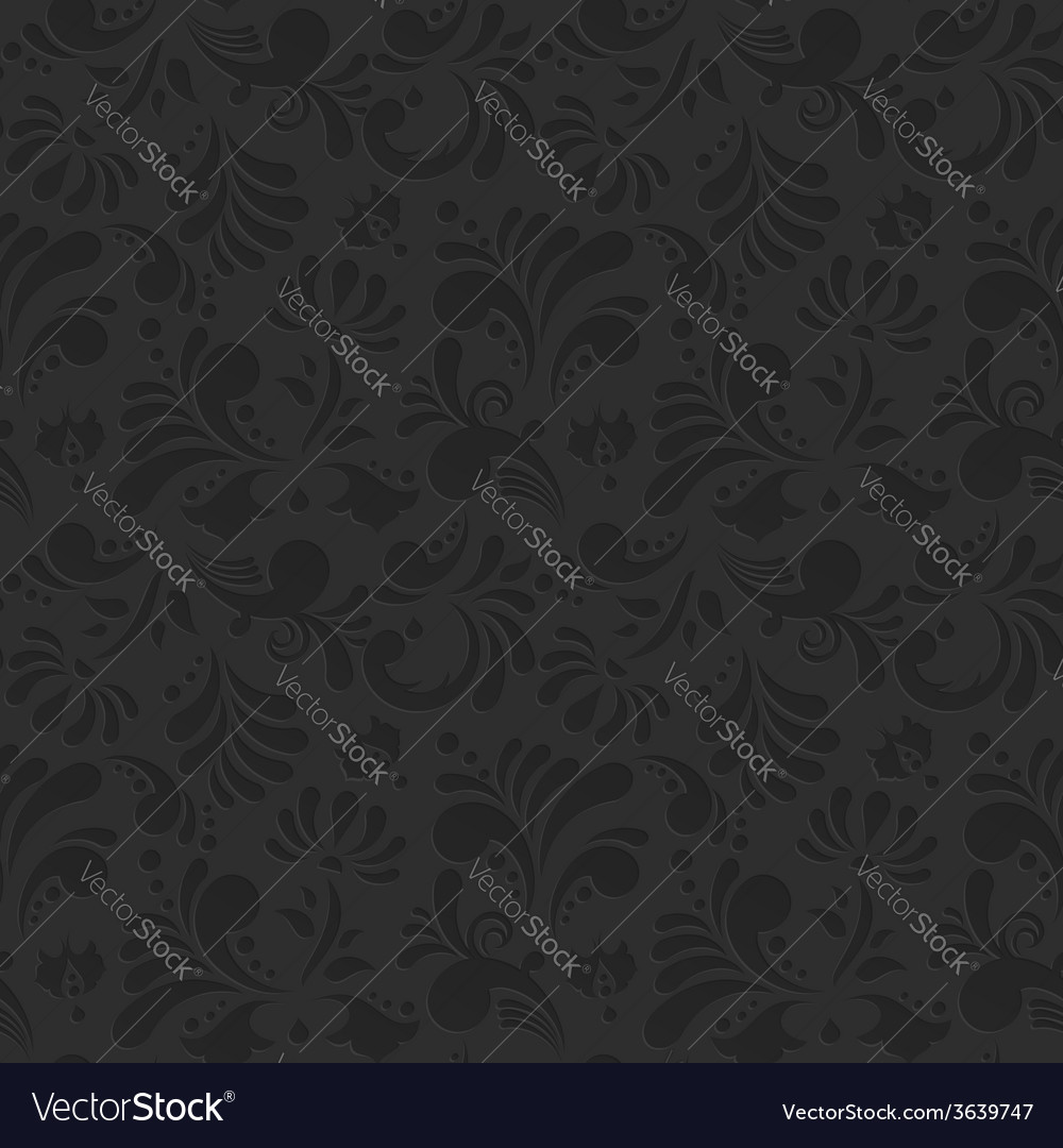 Vintage floral seamless pattern vector | Price: 1 Credit (USD $1)