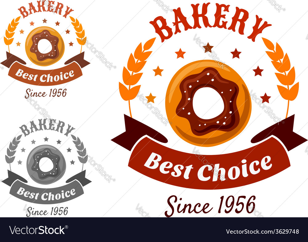 Bakery emblem with cookie vector | Price: 1 Credit (USD $1)
