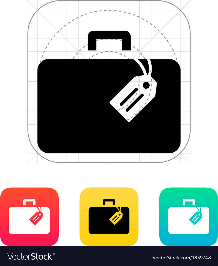 Case with label icon vector | Price: 1 Credit (USD $1)