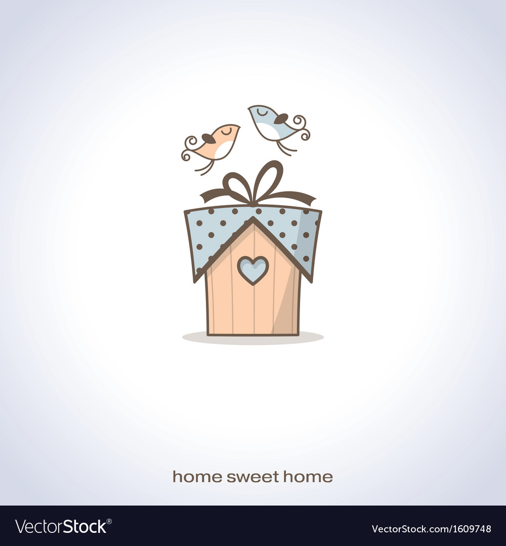 Cute home gift vector | Price: 1 Credit (USD $1)