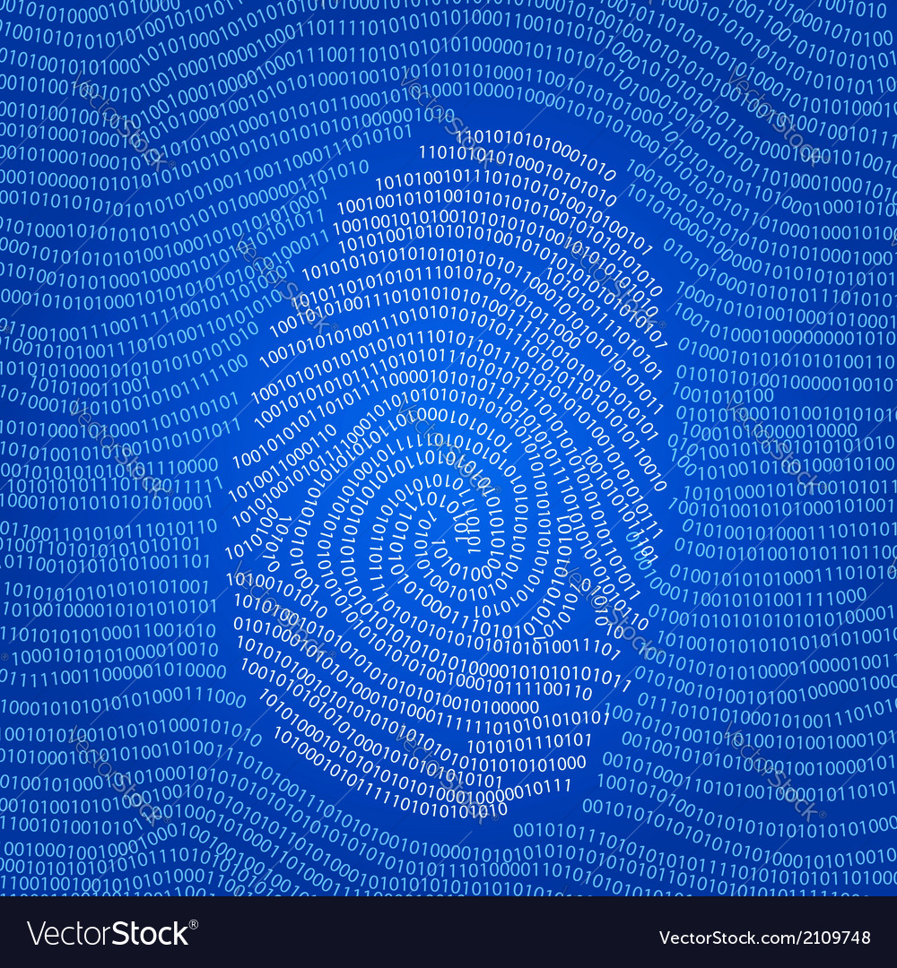Data encoded fingerprint abstract vector | Price:  Credit (USD $)