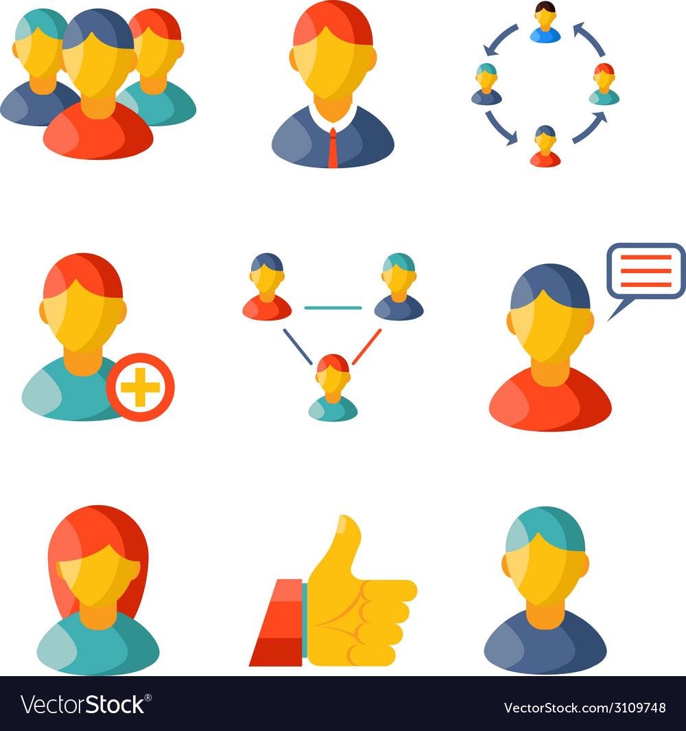 Flat communication business information media web vector | Price: 1 Credit (USD $1)