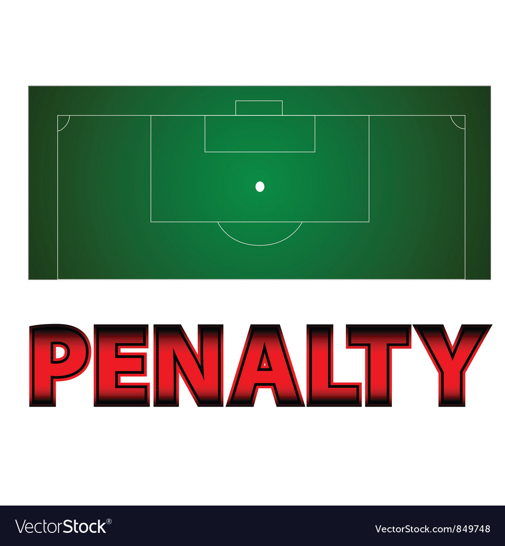 Football - penalty symbol vector | Price: 1 Credit (USD $1)