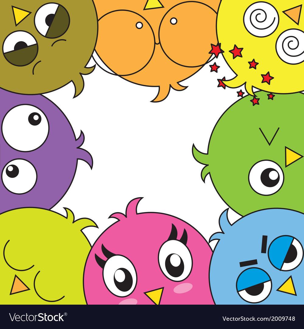 Funny birds card vector | Price: 1 Credit (USD $1)