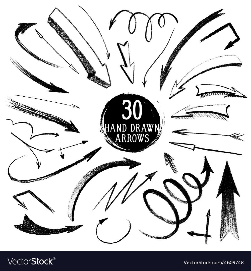 Hand-drawn arrows vector | Price: 1 Credit (USD $1)