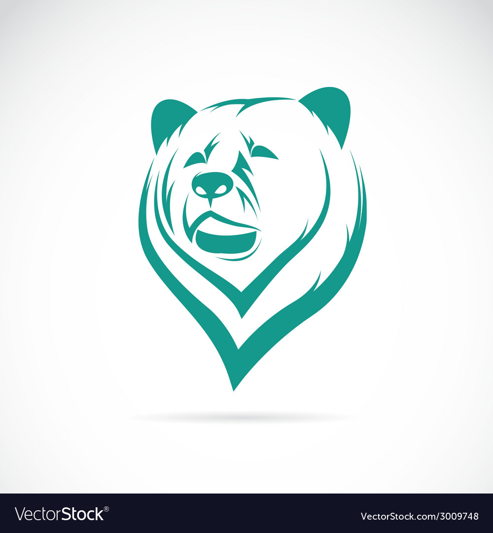 Image of an bear head vector | Price: 1 Credit (USD $1)