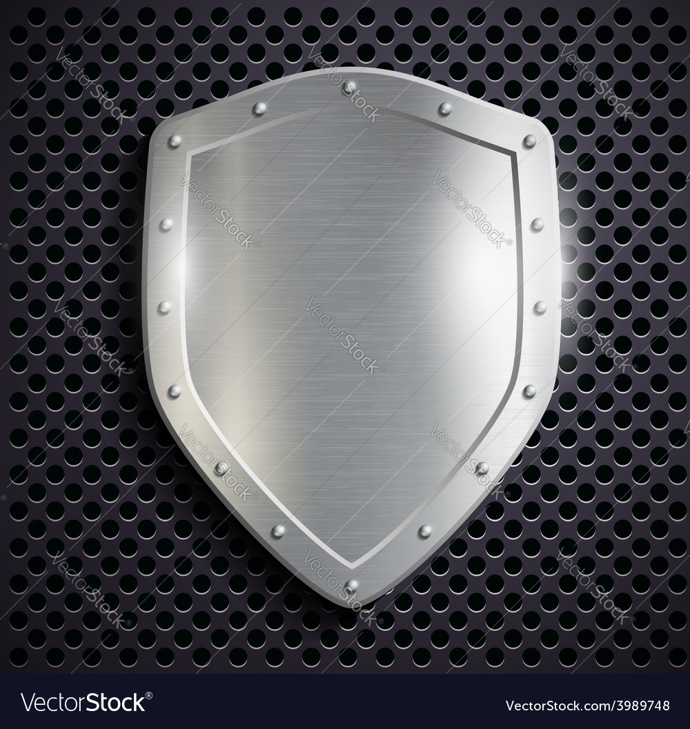 Metal shield vector