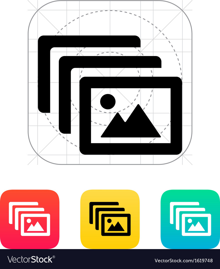 Photo archive icon vector | Price: 1 Credit (USD $1)
