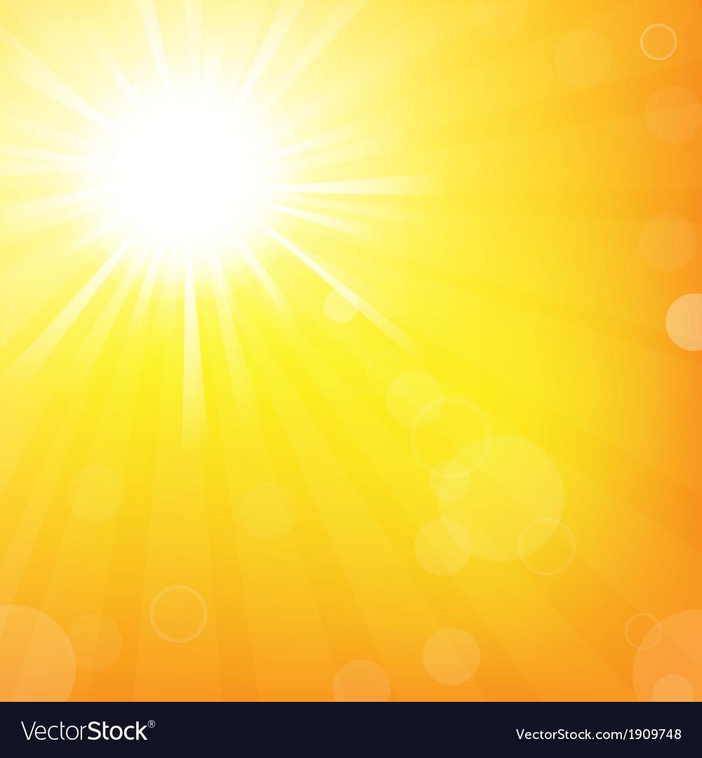 Sun with sunburst vector | Price: 1 Credit (USD $1)