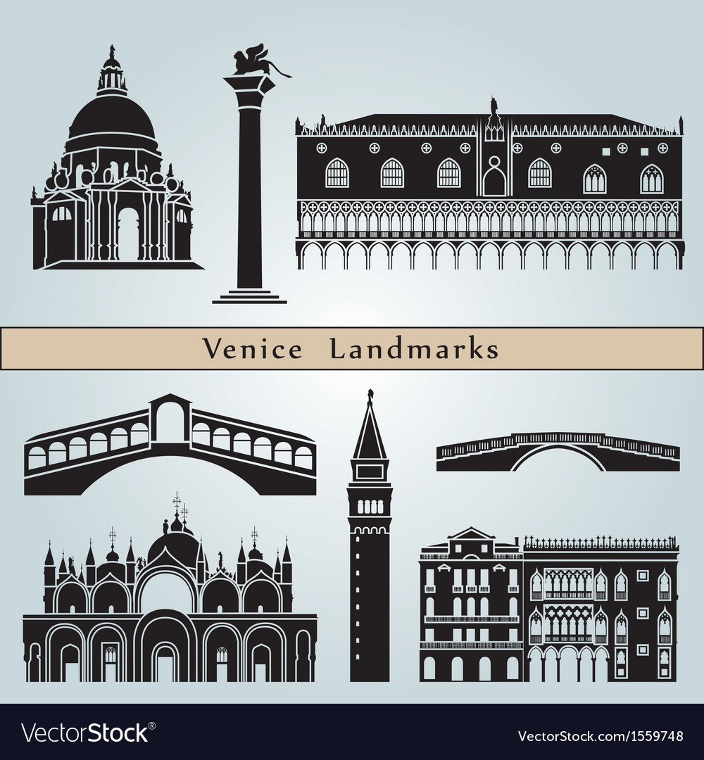 Venice landmarks and monuments vector | Price: 3 Credit (USD $3)