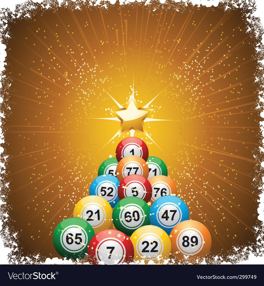 Bingo ball christmas vector | Price: 1 Credit (USD $1)