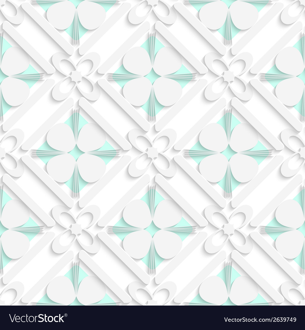 Diagonal clove leaves and flowers on green pattern vector | Price: 1 Credit (USD $1)