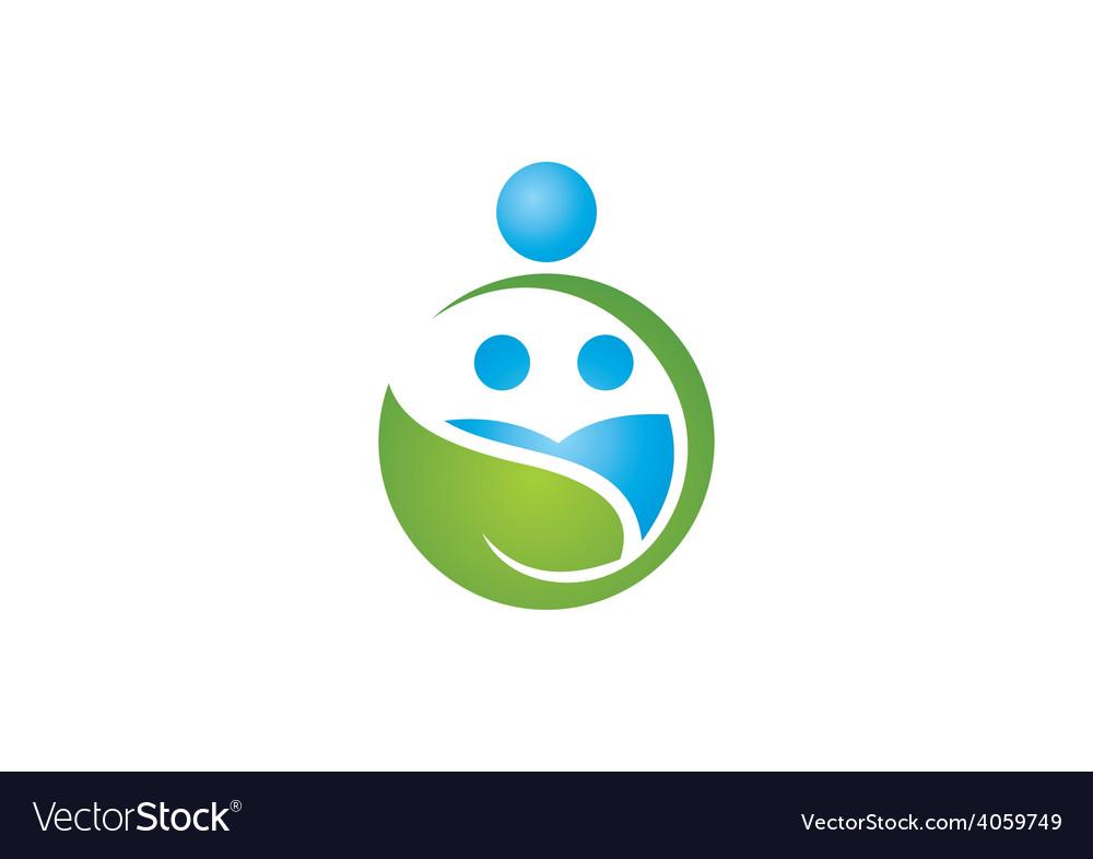 Eco nature family earth logo vector   Price: 1 Credit (USD $1)