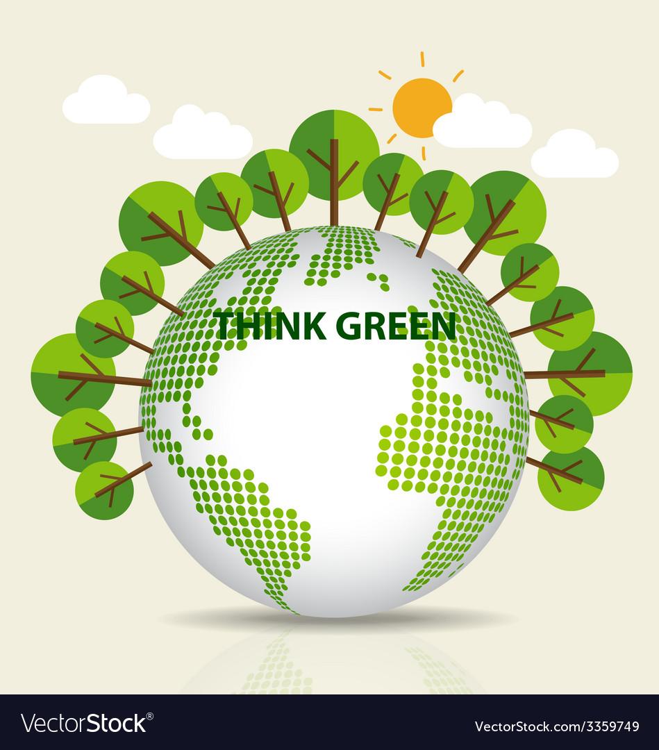 Green eco earth vector | Price: 1 Credit (USD $1)