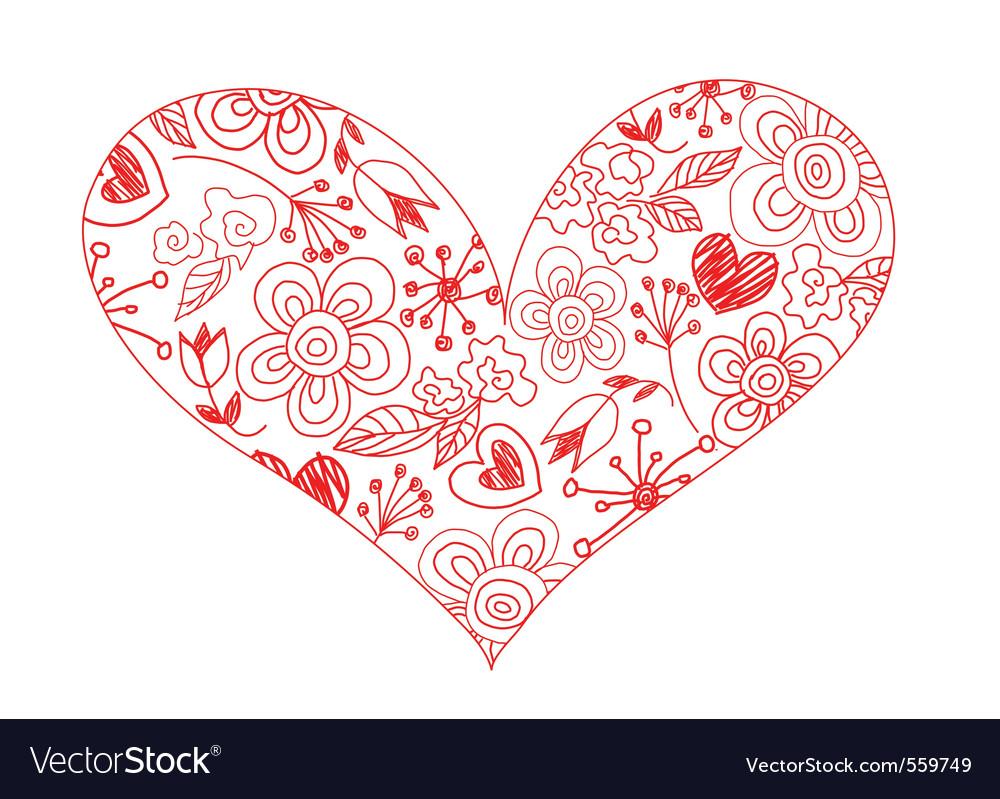 Hand drawn sketchy hearts vector   Price: 1 Credit (USD $1)