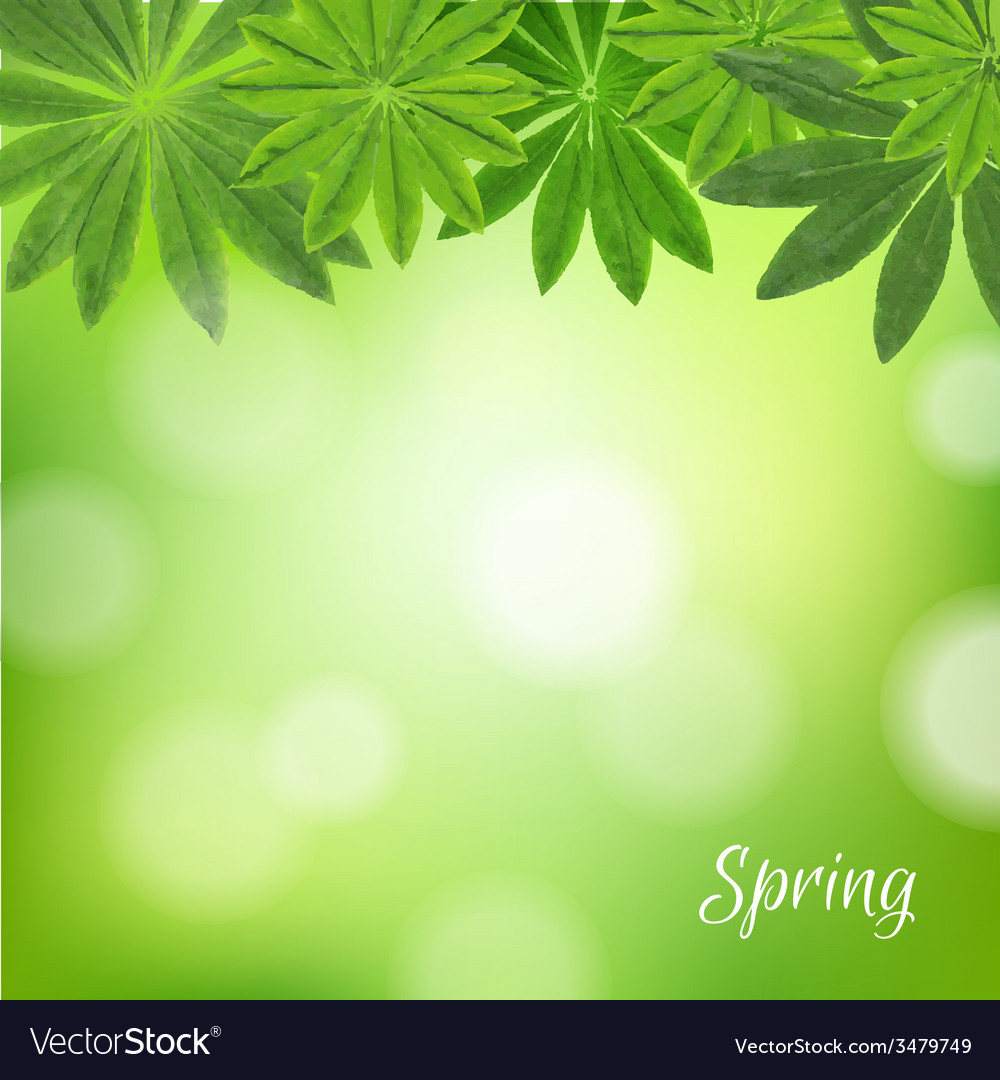 Spring poster vector | Price: 1 Credit (USD $1)