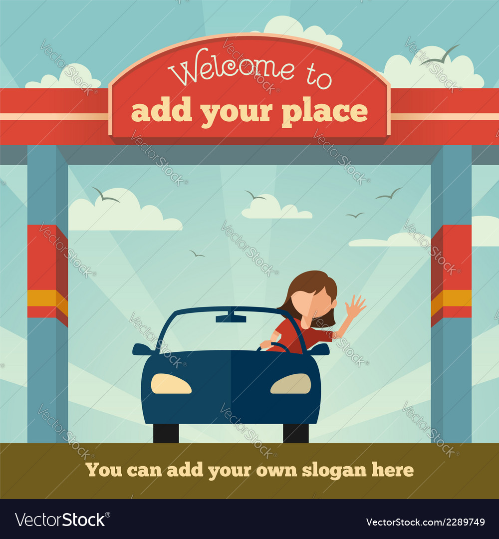 Welcome to sign concept vector | Price: 1 Credit (USD $1)