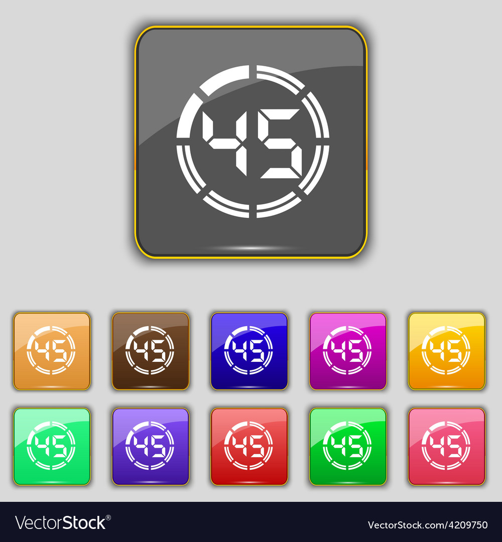 45 second stopwatch icon sign set with eleven vector   Price: 1 Credit (USD $1)