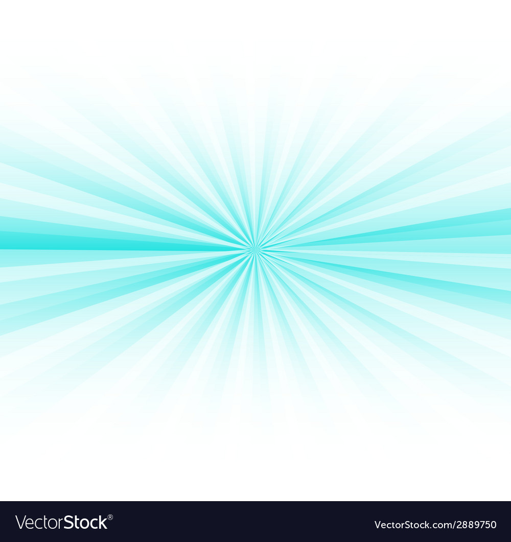 Abstract blue rays burst on white vector | Price: 1 Credit (USD $1)