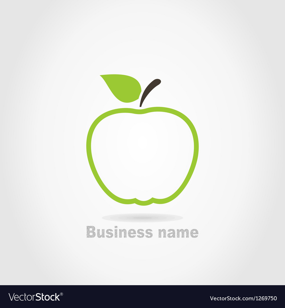 Apple business name background vector | Price: 1 Credit (USD $1)