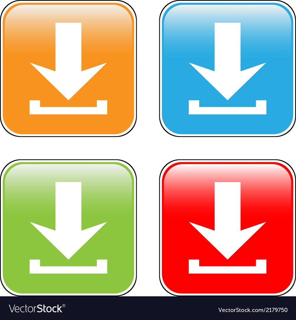 Arrow icon download set vector   Price: 1 Credit (USD $1)