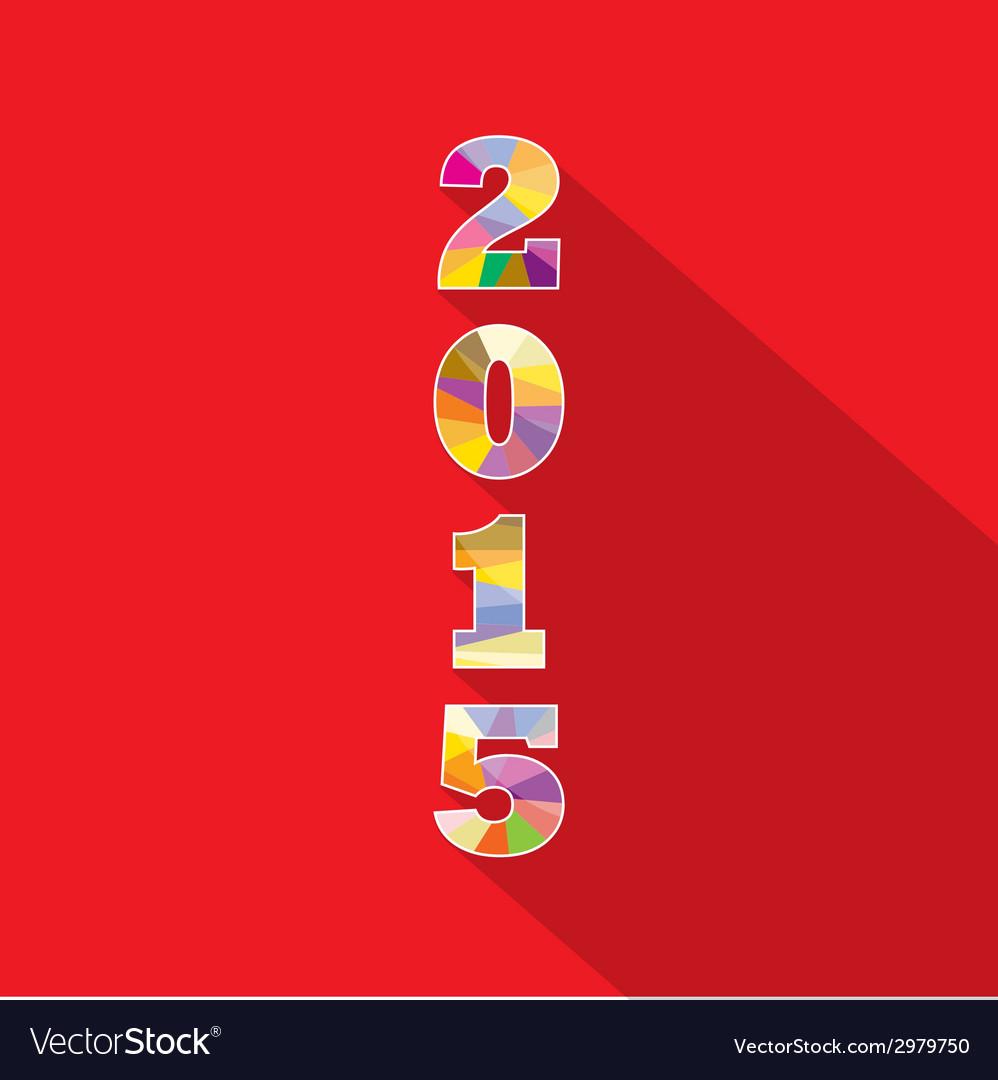 Creative happy new year 2015 text design vector | Price: 1 Credit (USD $1)
