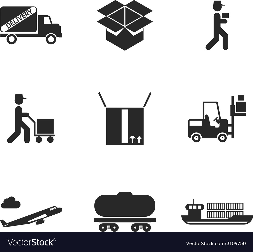 Delivery icons set vector | Price: 1 Credit (USD $1)