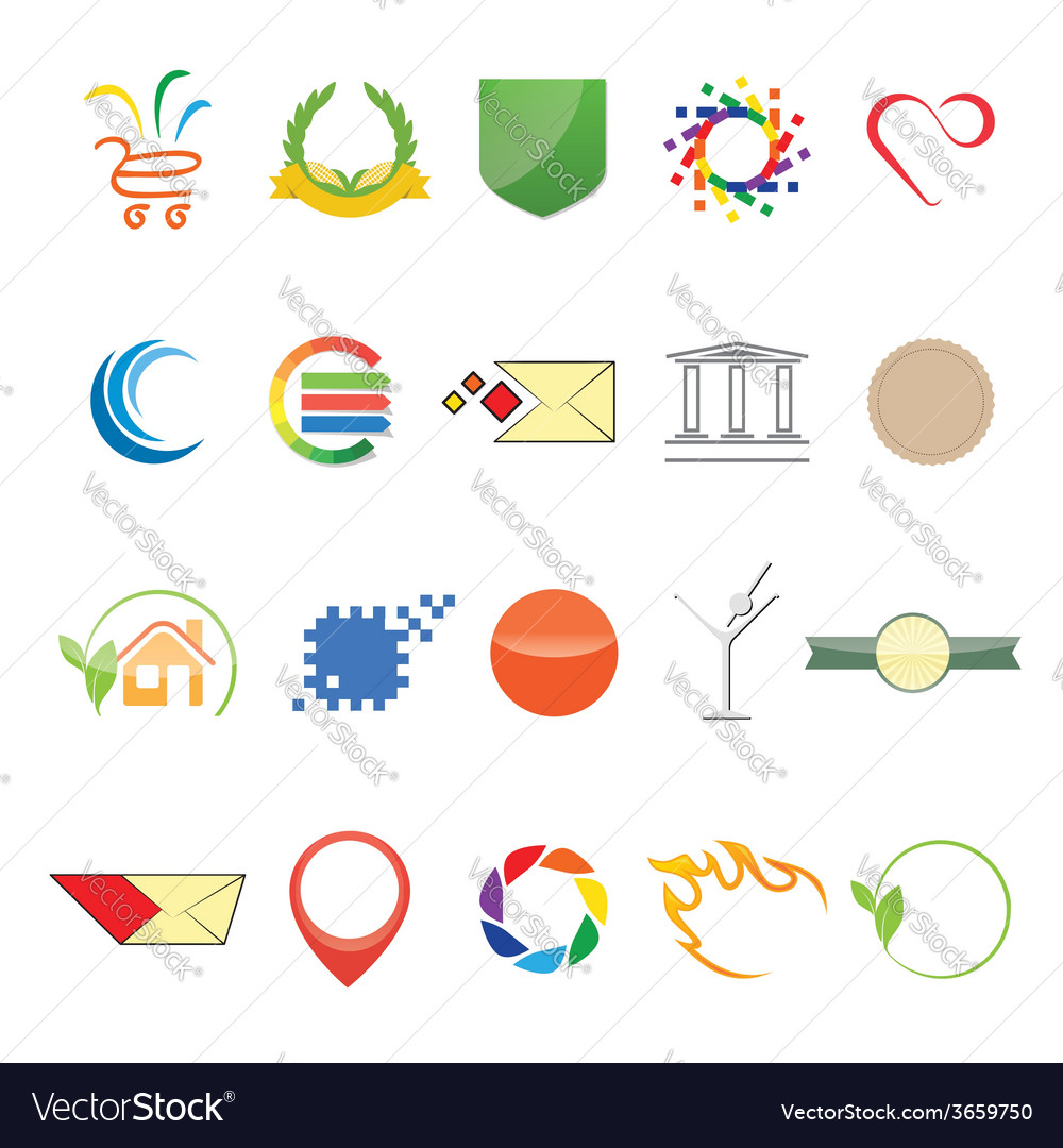 Different elements for logo and web vector | Price: 1 Credit (USD $1)