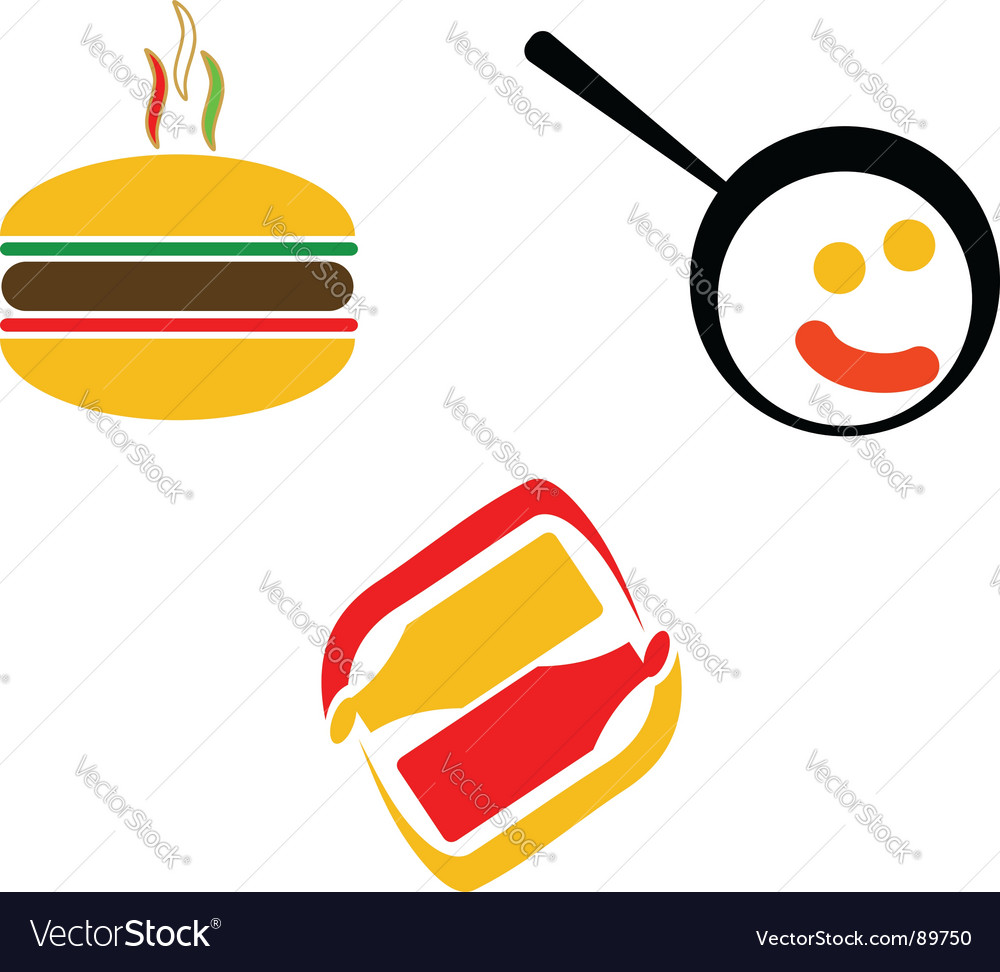 Fast food symbols vector | Price: 1 Credit (USD $1)