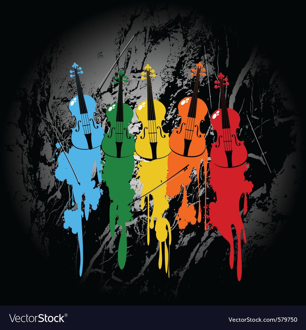 Grunge violins vector | Price: 1 Credit (USD $1)