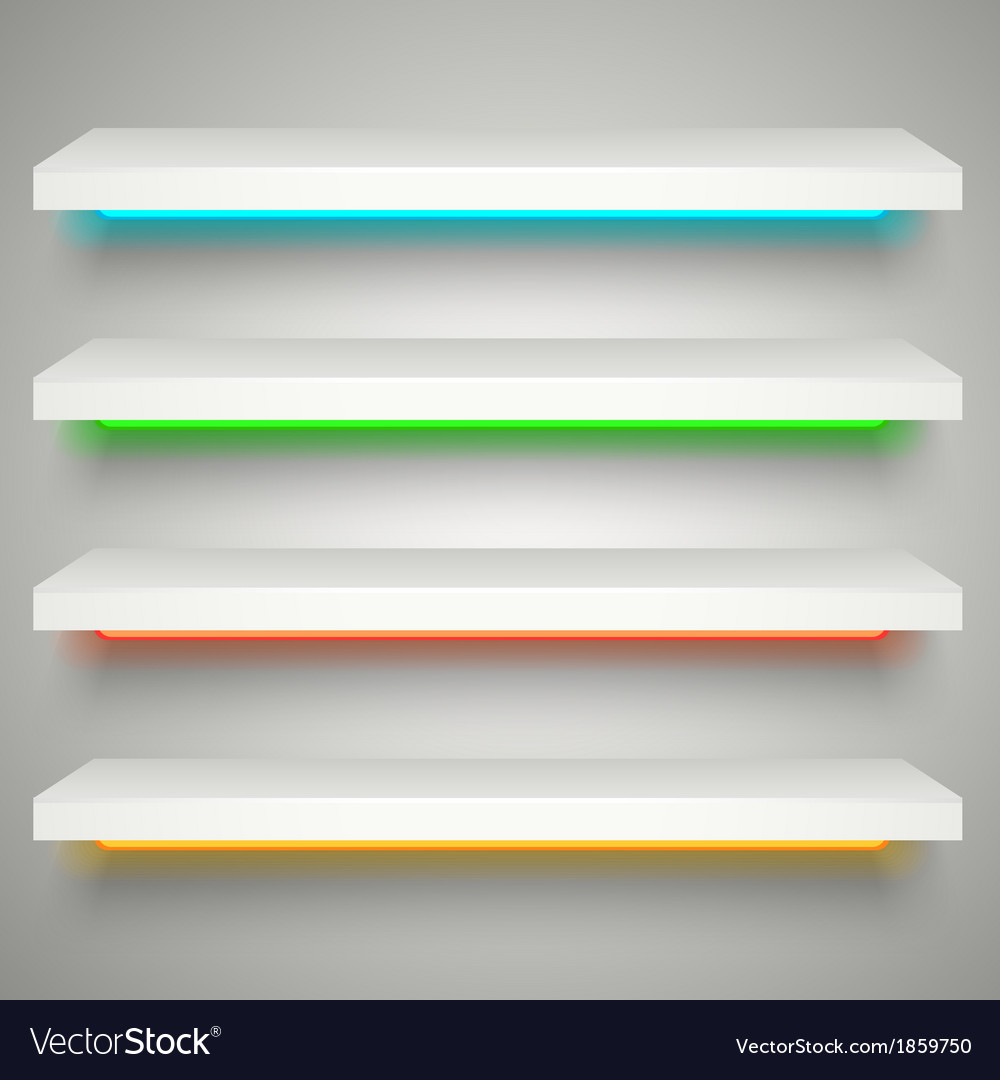 Neon illumination shelves vector | Price: 1 Credit (USD $1)