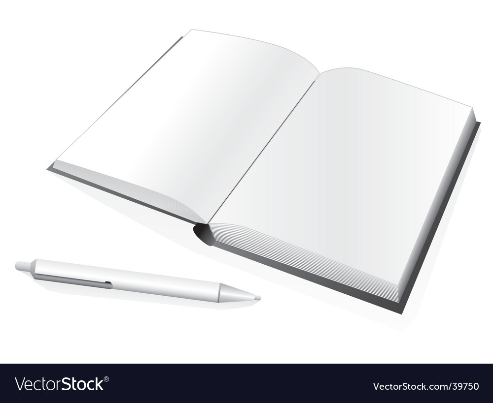 Notebook and pen vector | Price: 1 Credit (USD $1)