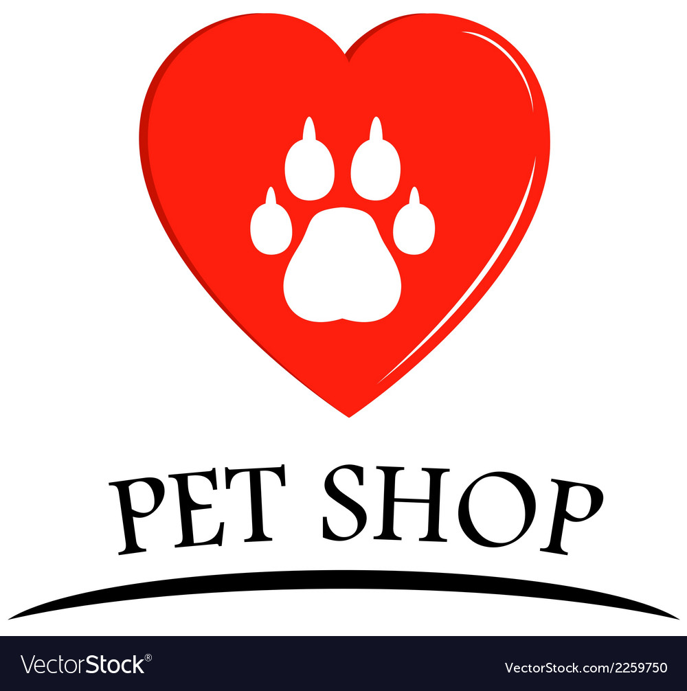 Pet shop symbol vector | Price: 1 Credit (USD $1)