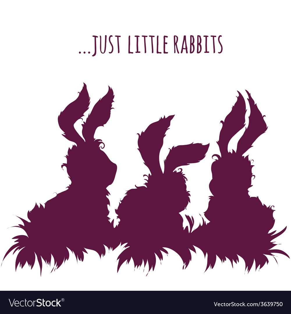 Set of cartoon cute rabbits vector | Price: 1 Credit (USD $1)