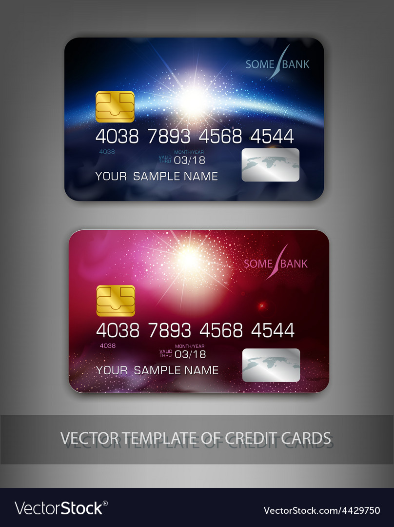 Template credit cards with modern design space vector | Price: 1 Credit (USD $1)