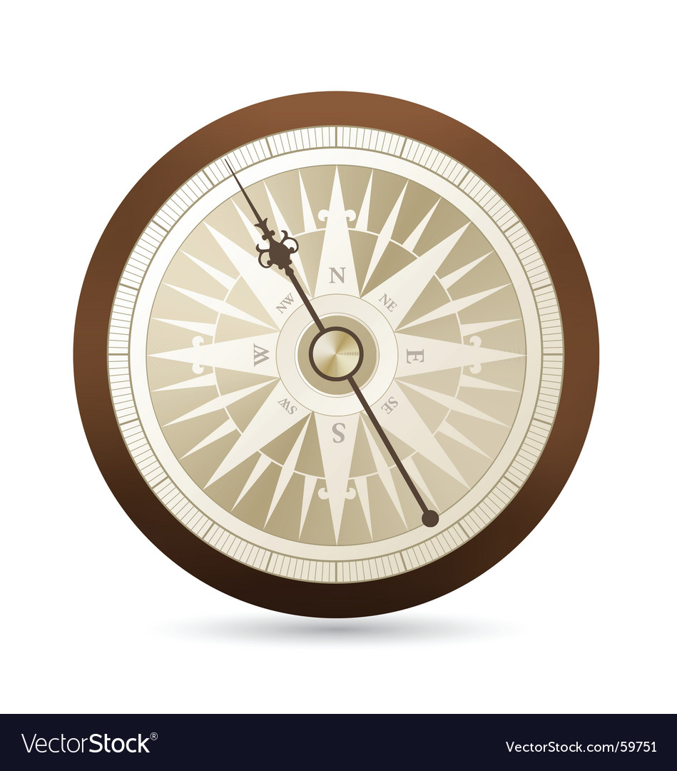 Antique compass illustration vector | Price: 1 Credit (USD $1)