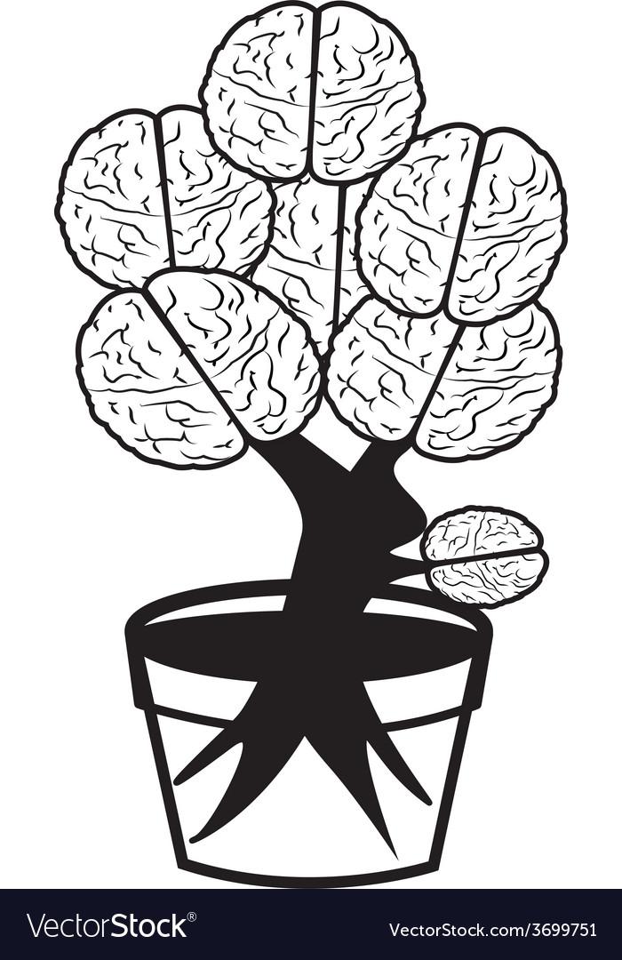 Brain in pot vector | Price: 1 Credit (USD $1)