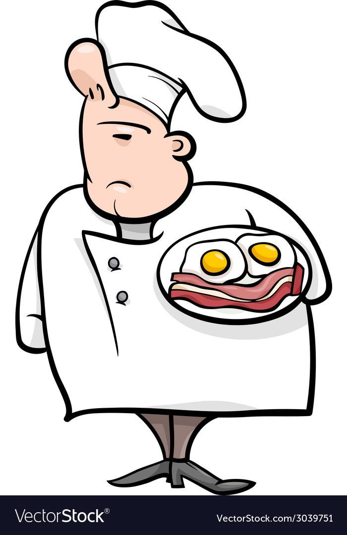 English chef cartoon vector | Price: 1 Credit (USD $1)