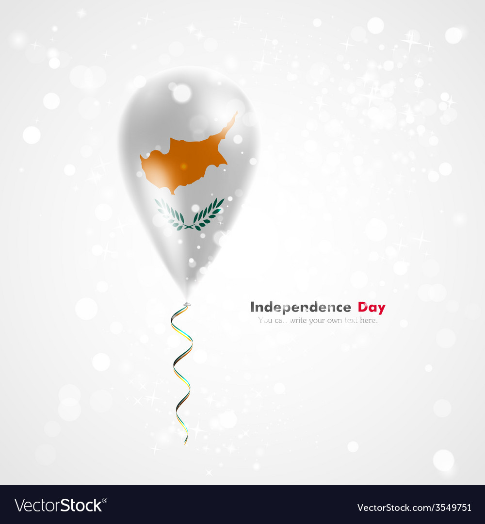 Flag of cyprus on balloon vector | Price: 1 Credit (USD $1)