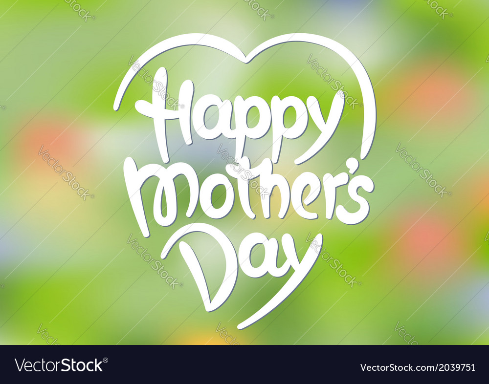 Happy mothers day hand-drawn lettering vector | Price: 1 Credit (USD $1)