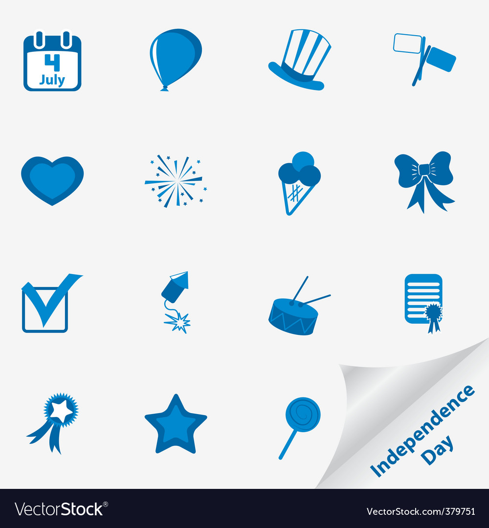 Independence day icons vector | Price: 1 Credit (USD $1)