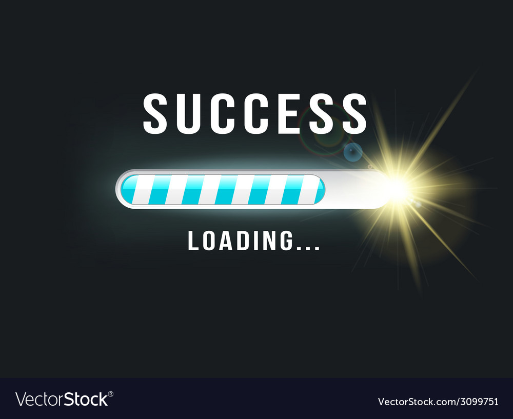 Loading success vector | Price: 1 Credit (USD $1)