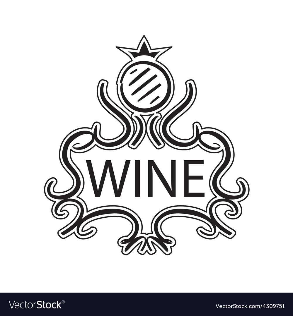 Ornate logo with crown and cask wine vector | Price: 1 Credit (USD $1)