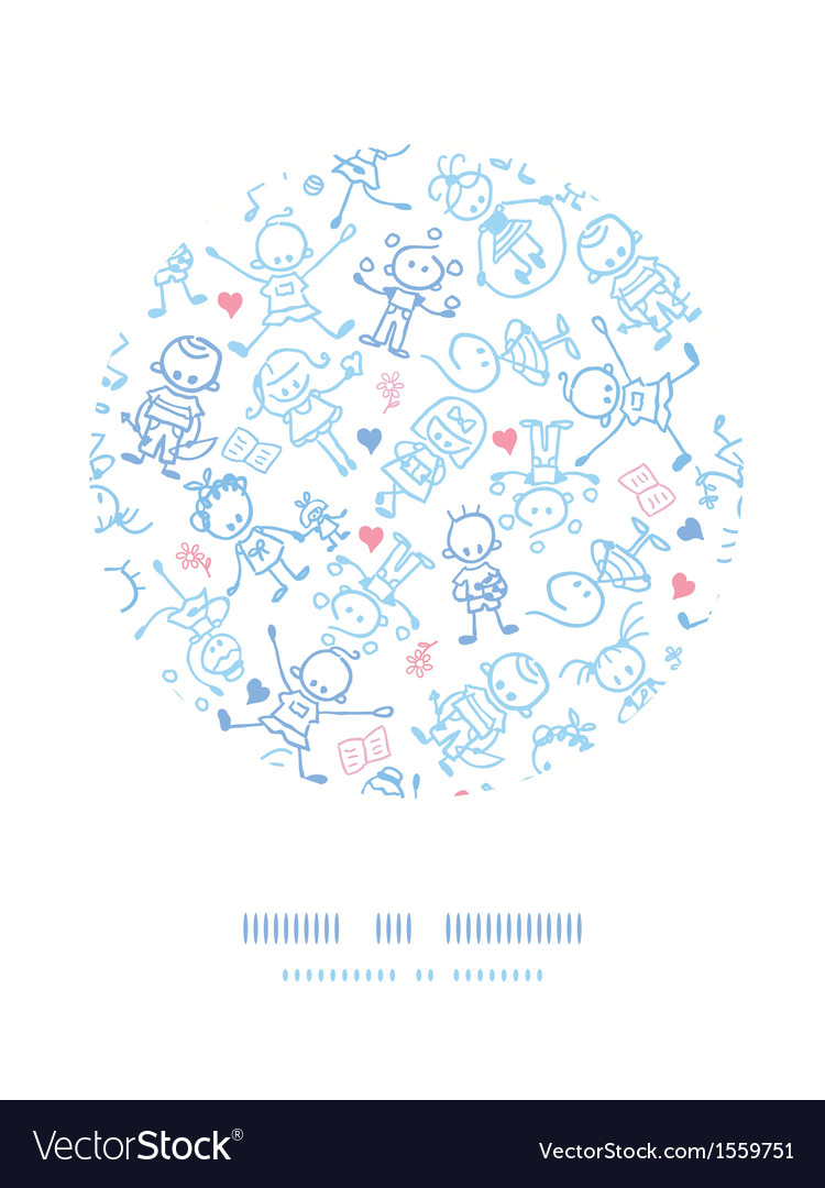 Playing children circle decor pattern background vector | Price: 1 Credit (USD $1)