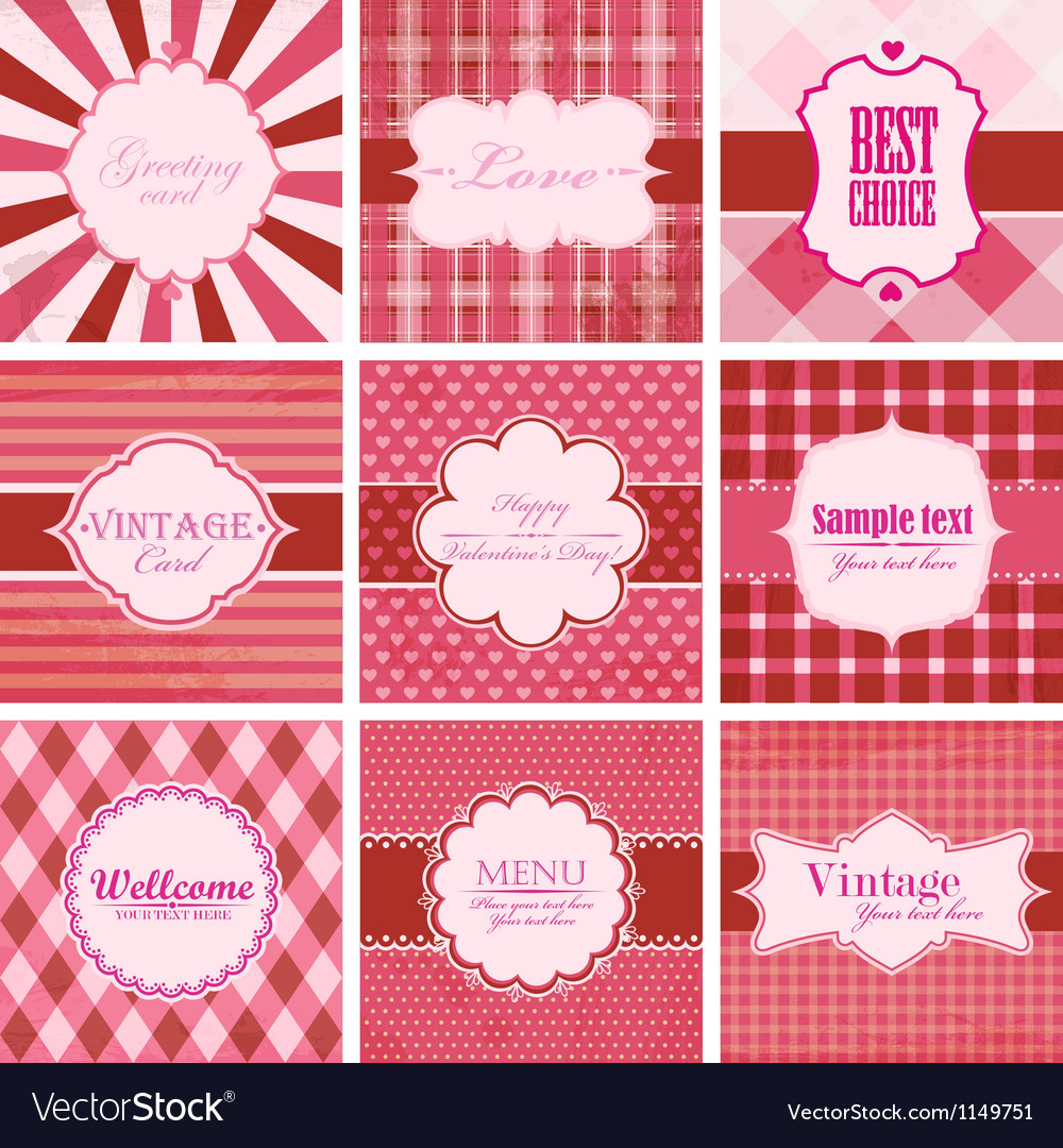 Set of valentine day backgrounds vector | Price: 1 Credit (USD $1)
