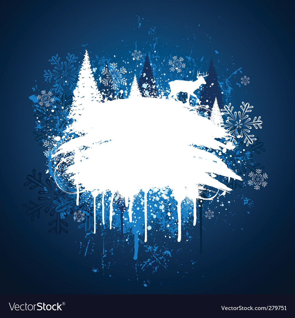 Winter grunge design vector | Price: 1 Credit (USD $1)