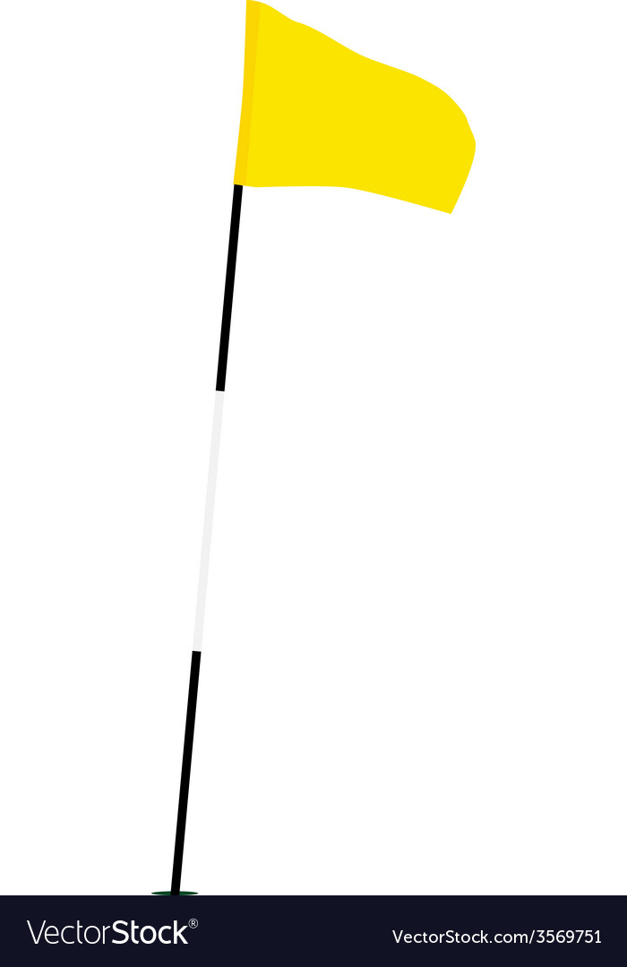 Yellow golf flag vector | Price: 1 Credit (USD $1)
