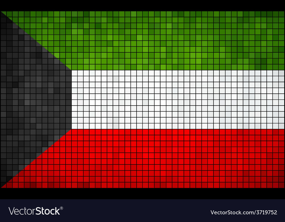 Abstract mosaic flag of kuwait vector | Price: 1 Credit (USD $1)