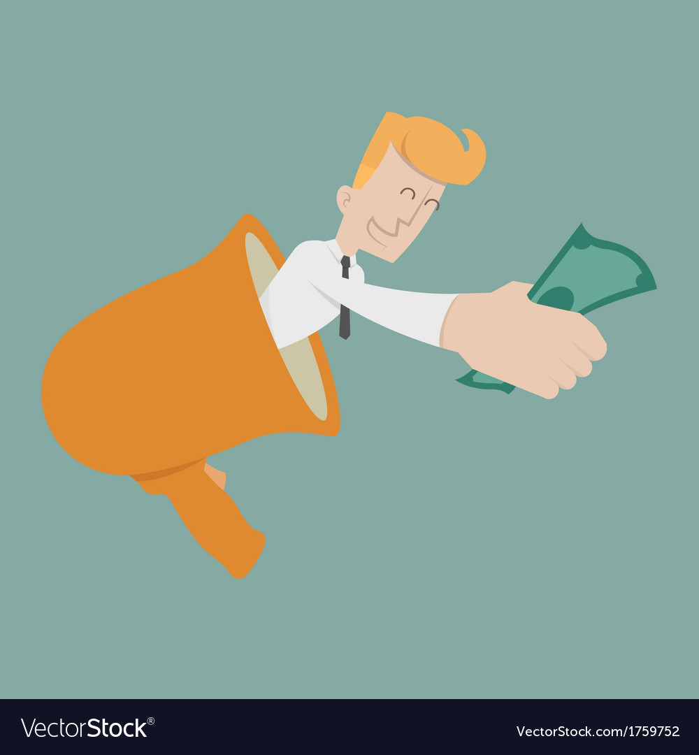 Businessman cheer vector | Price: 1 Credit (USD $1)